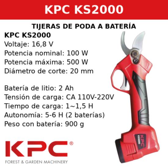 Tesoura de Poda KPC KS 2000 a Bateria